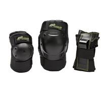 K2 Damen Schutzausrüstung Prime W Pad Set, Schwarz/Grün, M, 3041601.1.1