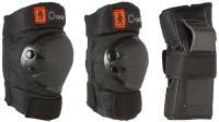 Kinder Protektoren Set Schwarz 6 tlg. Arm,-Bein- und Ellenbogenschützer Gr. XS von 25KG bis 50KG